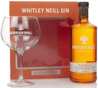 Whitley Neill Blood Orange Gin Gift Pack with Glass Flavoured Gin