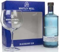 Whitley Neill Blackberry Gin Gift Pack with Glass Flavoured Gin