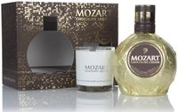 Mozart Gold Chocolate Cream Liqueur Gift Pack with Glass Liqueurs