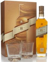 Johnnie Walker 18 Year Old Gift Pack with 2x Glasses Blended Whisky