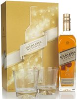 Johnnie Walker Gold Label Reserve Gift Pack with 2x Glasses Blended Whisky