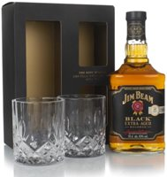 Jim Beam Black Gift Pack with 2x Glasses Bour...