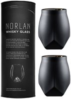 Norlan Whisky Glass VALID Black Twin Pack