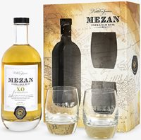 Mezan extra-old rum and glasses gift set