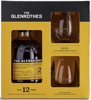 Glenrothes 12-year-old single-malt Scotch whisky and glasses gift set