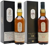 Lagavulin 11 Year Old Offerman Edition and 16 Year Old Bundle / 2x70cl Islay Whisky