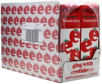 Eager Tomato Juice / Case of 8x100cl Cartons
