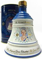 Bells Decanter Queen Mother 90th Birthday 75cl