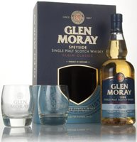 Glen Moray Classic Peated Gift Pack with 2x G...