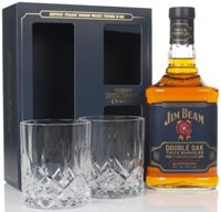 Jim Beam Double Oak Gift Pack with 2x Glasses...