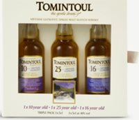 Tomintoul Whisky miniature gift pack 150ml