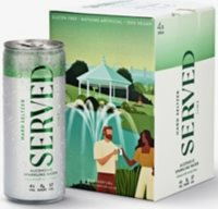 Served lime-infused hard seltzer pack of four x 250ml
