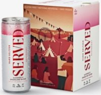 Served raspberry-infused hard seltzer pack of four x 250ml