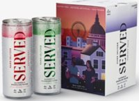Served raspberry and lime-infused hard seltzer pack of four x 250ml