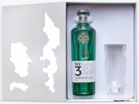 No. 3 London dry gin with glass set 700ml