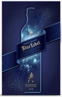 Blue Label whisky with glasses 700ml