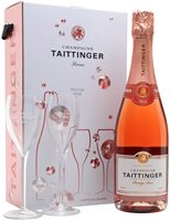 Taittinger Prestige Rose Brut NV Glass Set