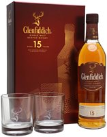 Glenfiddich 15 Year Old / 2 Glasses Gift Pack...