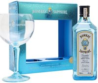 Bombay Sapphire Gin with Free Glass