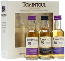 Tomintoul Triple-Pack 10 Yrs, 16 Yrs & 33 Yrs / 3x5cl Miniature