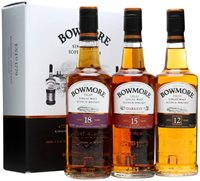 Bowmore Gift Pack / 12 Year Old+15 Year Old+1...