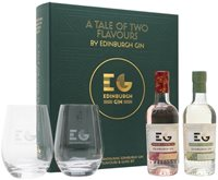 Edinburgh Gin Tale of Two Flavours Gift Set / (Gooseberry and Rhubarb)