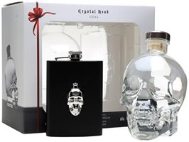 Crystal Head with Hip Flask