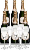 Laurent Perrier La Cuvee Brut NV with Six Gla...
